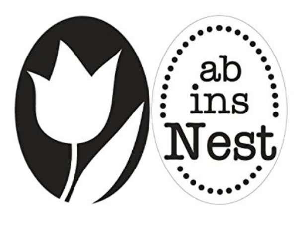 Labels D ab ins Nest+Tulpe