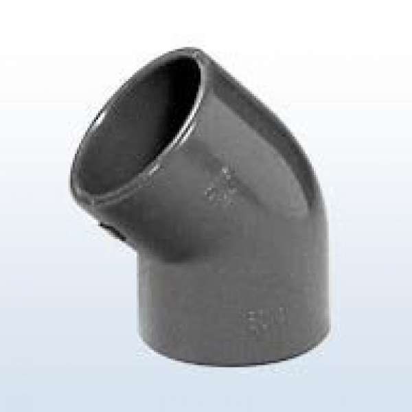 PVC-Winkel 45°, 2x Klebemuffe, 32 mm