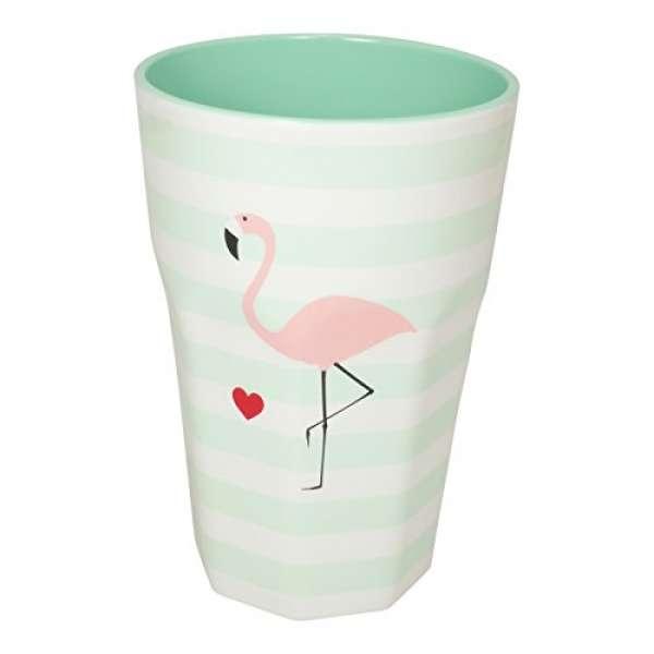 Melamin Becher Groß Flamingo