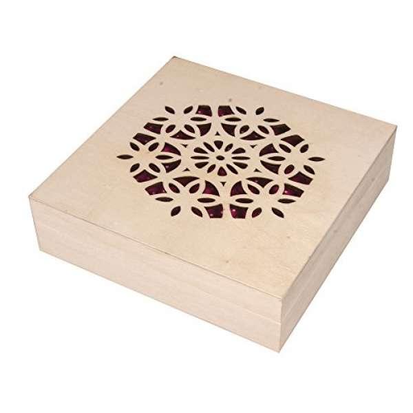 Holz Box gelasert 14,5x14,5x4cm