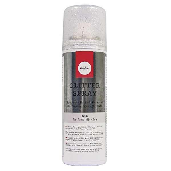 Glitterspray fein 125ml silber