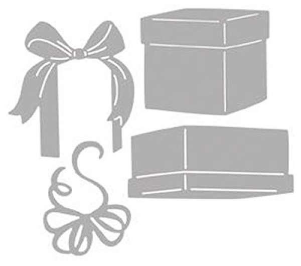 Stanzschablone Geschenke 17x10x0,1cm