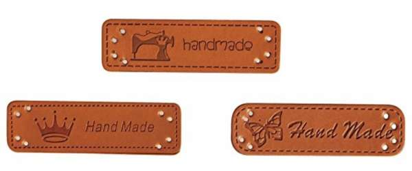 Kunstleder Labels - Handmade 56967