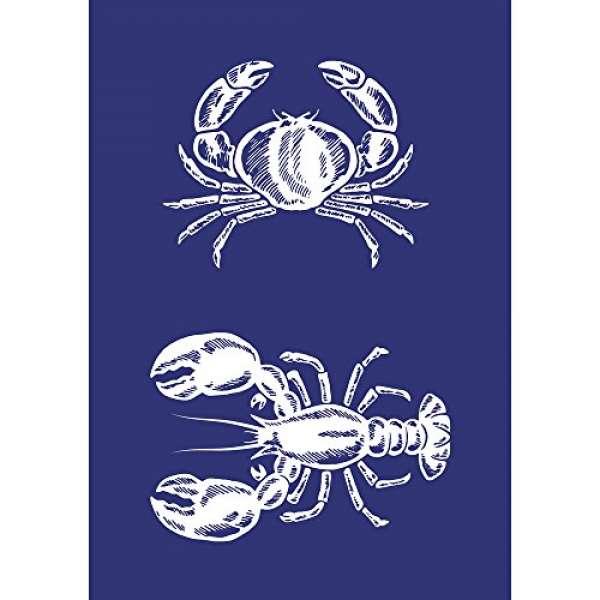 Schablone Krebs&Lobster A5 +Rakel