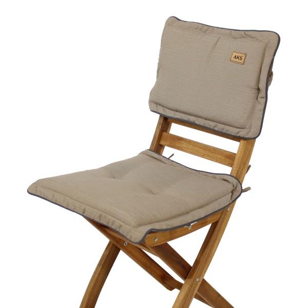 Sitz-Rückenkissen Slub Brown