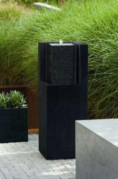Esteras APURO Brunnen eckig black stone H87cm