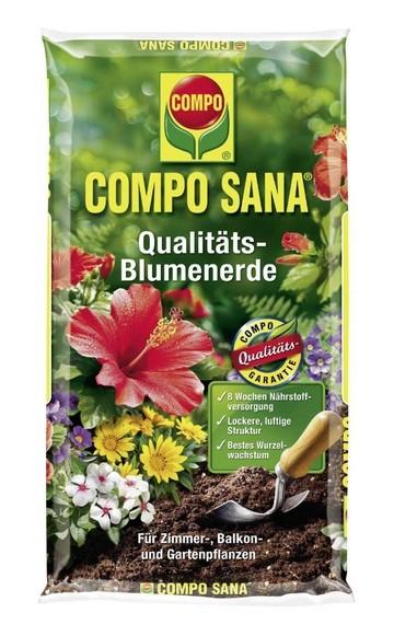 Compo Sana Qualitäts-Blumenerde 10L