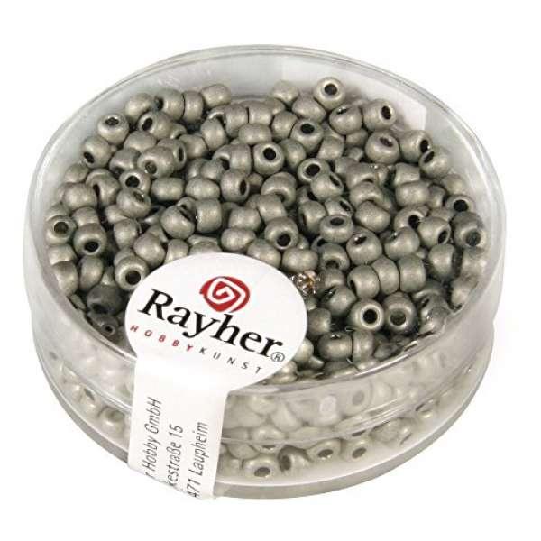 Metallic-Rocailles, matt, 2,6 mm ø silber