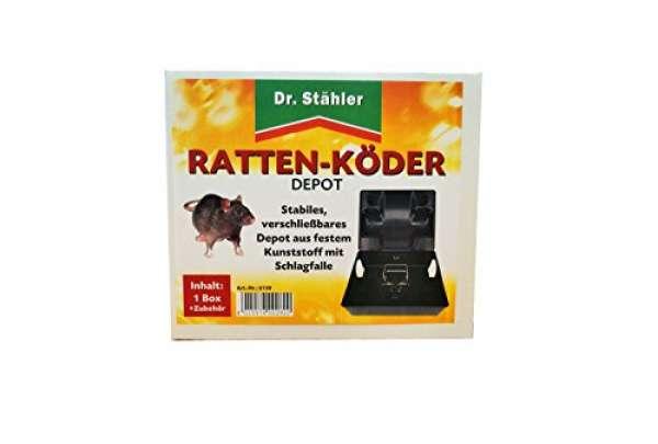 Rattenköder Depot +Schlagfalle sw. ST