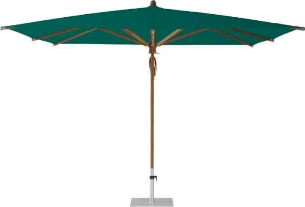 Schirm Teakwood 330x330cm grün 446