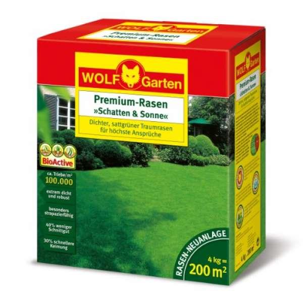 """Wolf Garten LP 200 """"Schatten & Sonne"""" Premium-Rasen 4kg"""