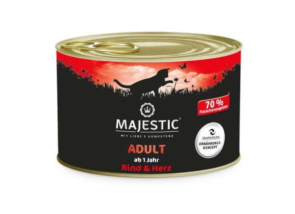 SA MAJESTIC 200g Cat Adult Rind&Herz