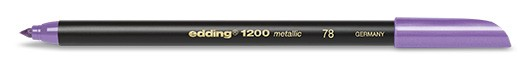 edding 1200 metallic colorpen - 078 Violett Metallic