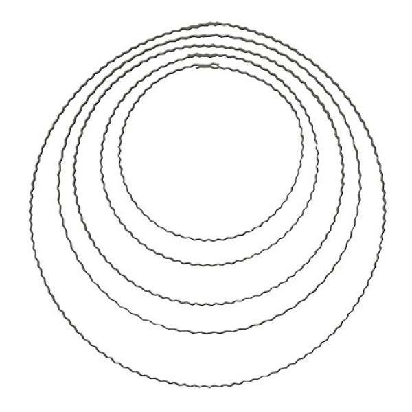 Metall Ring Flachdraht 22cm