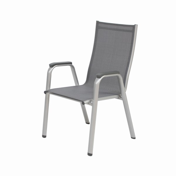 Sessel Cirrus silber/anthrazit stapelbar