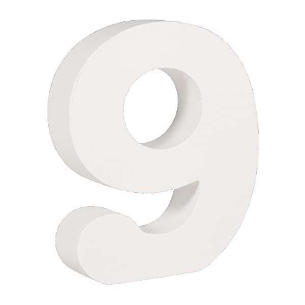 Nummer 9 weiß