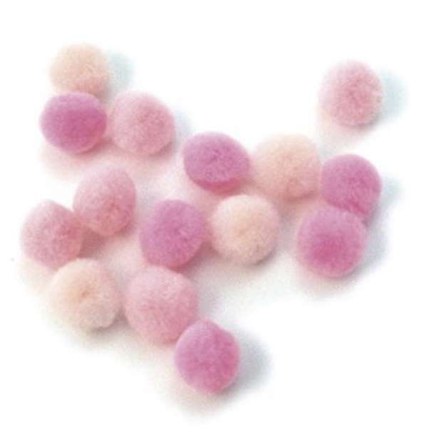 Pompons rosa 7614000