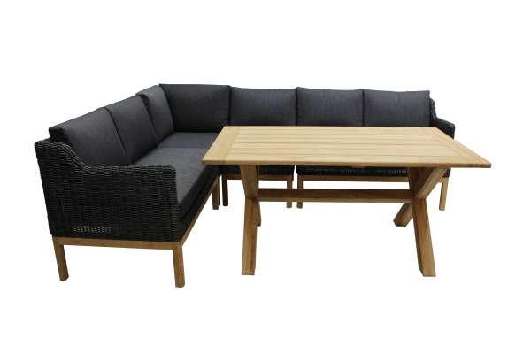 Lounge Darwin 4tlg. light charcoal (ohne Tisch)
