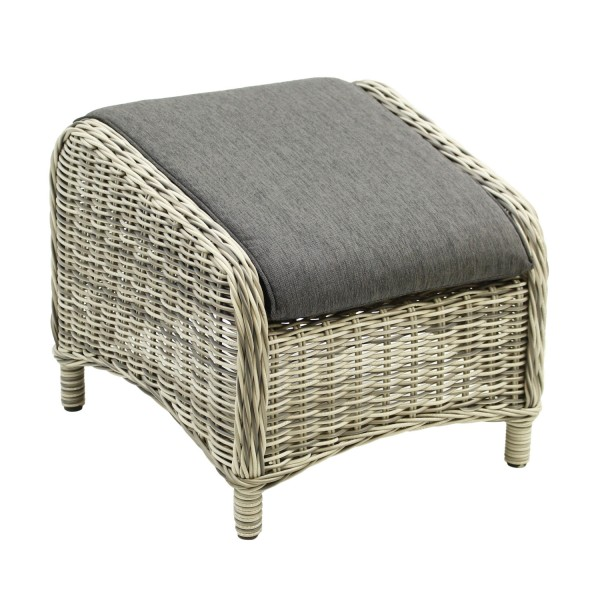 Hocker Broadway 55x50 white grey