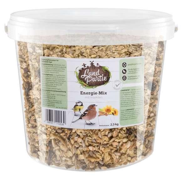 LandPartie Wildvogel Energiemix mit Insekten im Eimer 2,5kg
