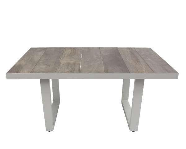 Loungetisch Benedetto weiß-grau 140x85cm