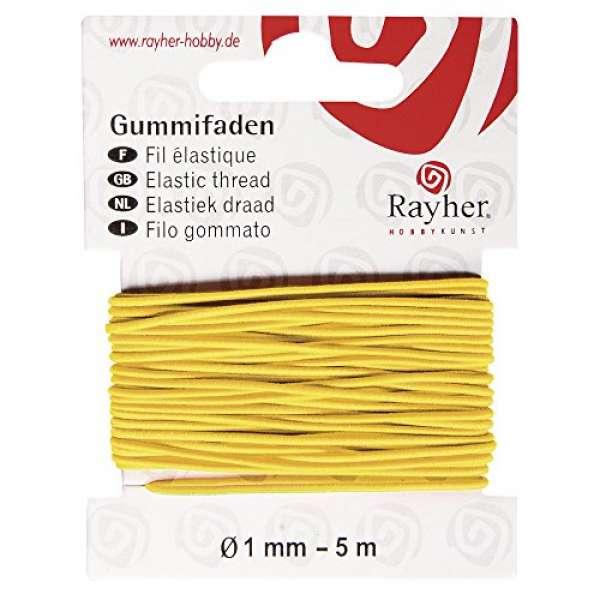 Gummifaden 5m gelb