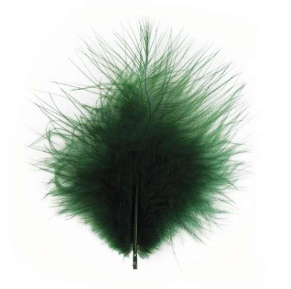 Deko Federn grün