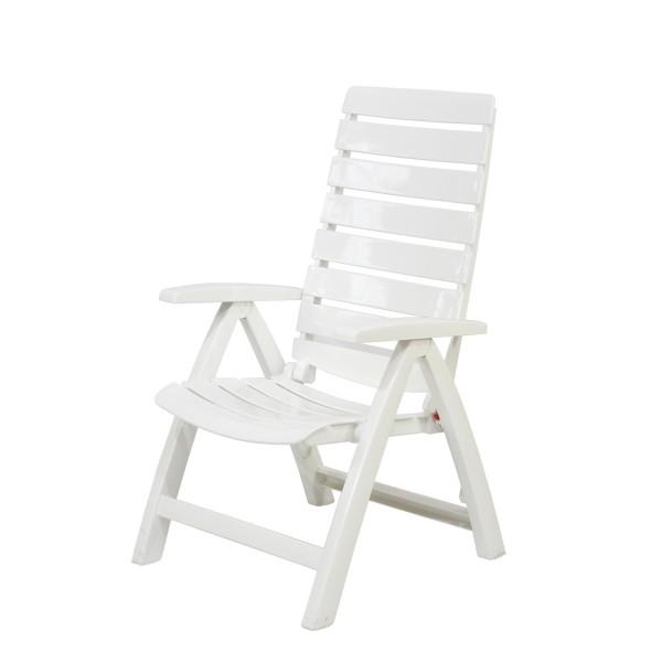 Sessel Rimini hoch weiss klappbar