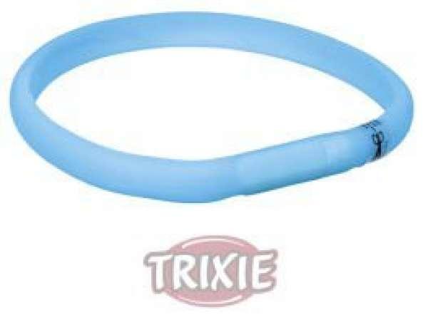 Trixie Flash Leuchtband USB, XS-S: 35 cm/18 mm, blau