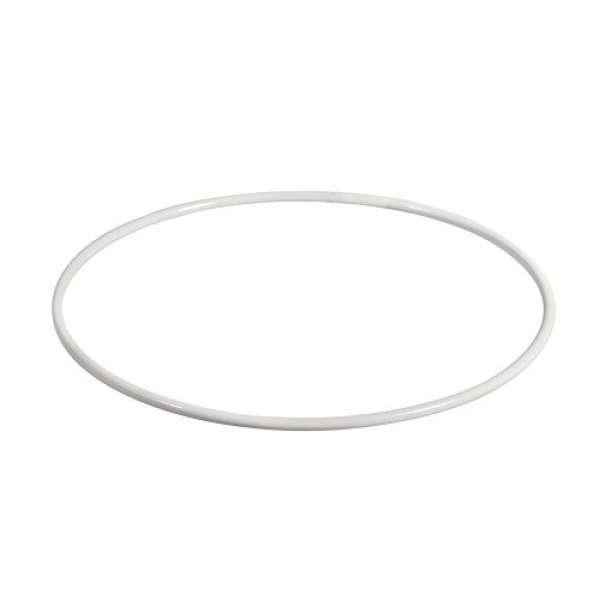 Metall Ring beschichtet weiß 35cm
