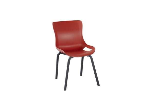 Stuhl Sophie stapelbar schwarz/rot