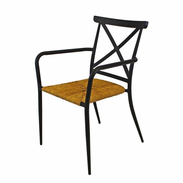 Sessel Skagen schwarz / Natur