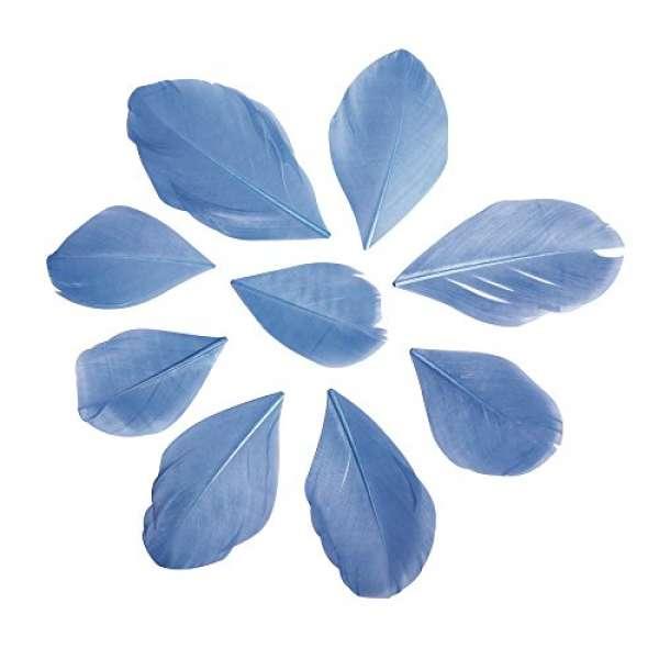 Federn geschnitten hellblau
