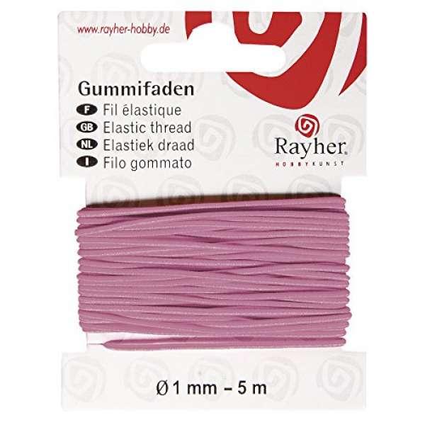 Gummifaden 5m rosa