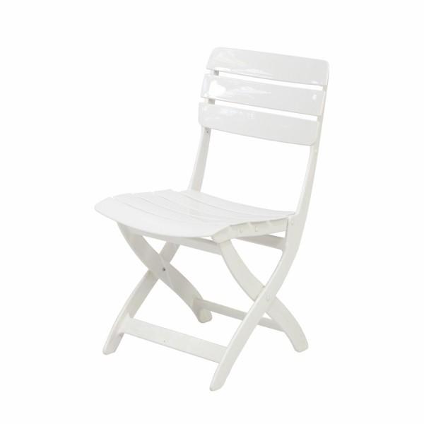 Stuhl Venezia weiss klappbar