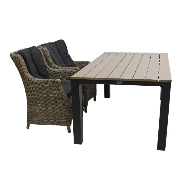 Sessel List grey seagrass inkl.Kissen