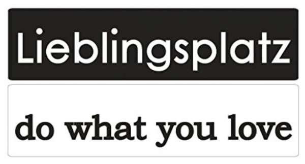 "Labels ""Lieblingsplatz, do what you love"" 2Stk."