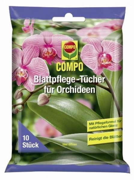 COMPO Blattpflegetücher für Orchideen, 10 Stück