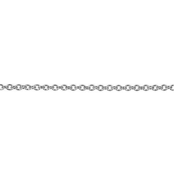 Edelstahl Gliederkette D2,5mm 60cm platin