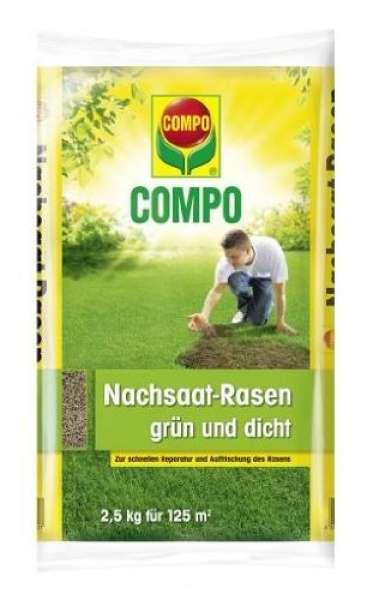 COMPO Nachsaat-Rasen grün und dicht 2,5 kg