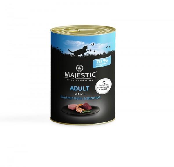 MAJESTIC Rind mit Huhn&Shrimps 400g