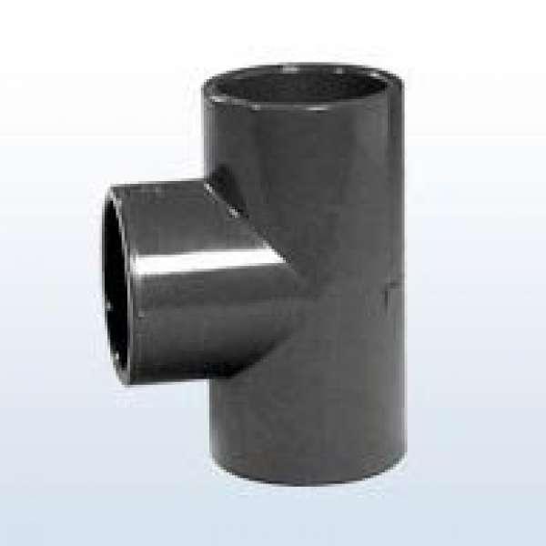 PVC-T-Stück 90°, 3x Klebemuffe, 25 mm