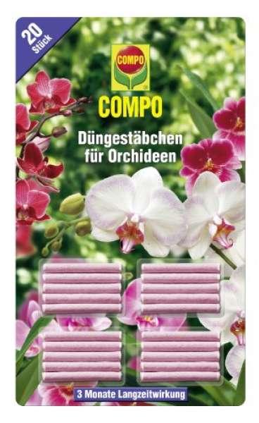 COMPO Düngestäbchen für Orchideen, 20 Stück