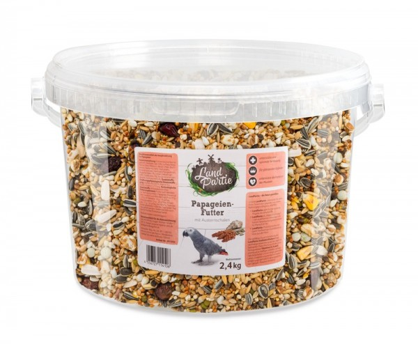 LandPartie 2,4kg Papageienfutter Eimer 4,2l