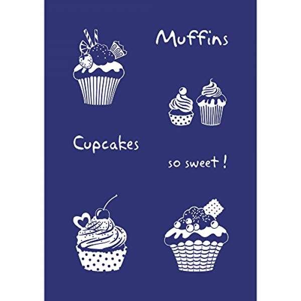 Schablone Cupcakes A5 +Rakel