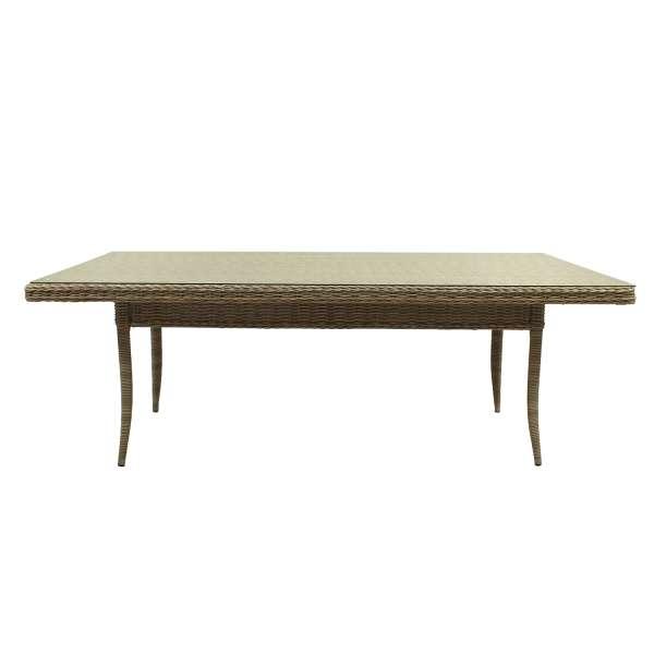 Tisch Hörnum 220x120cm white shell