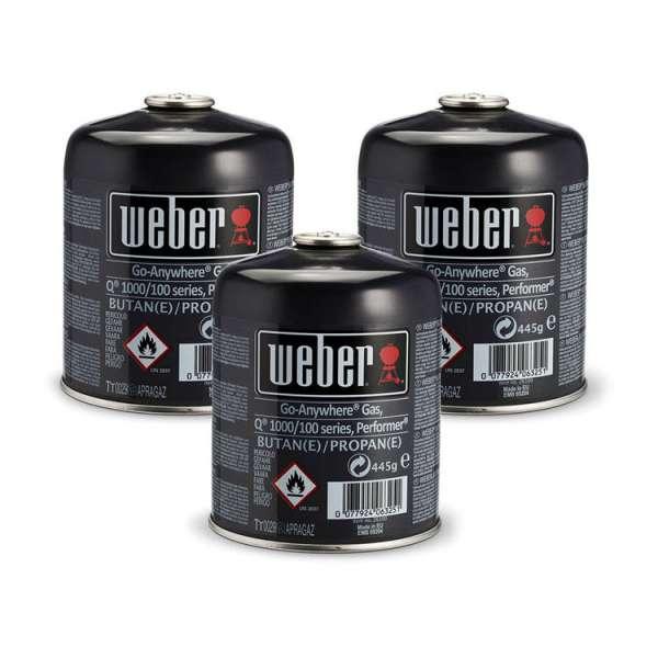 Weber Gas-Kartusche Q100 3er Pack