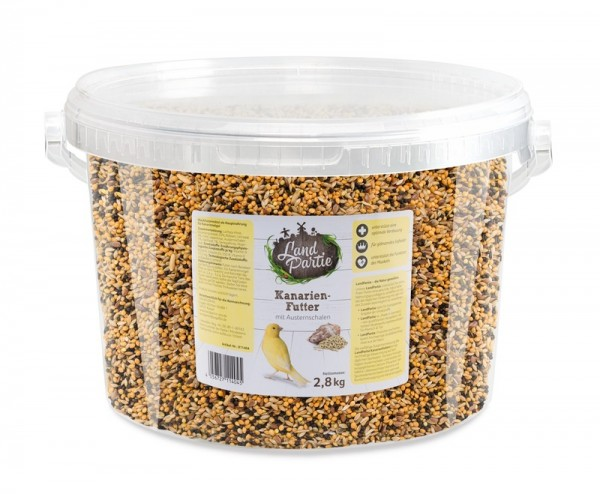 LandPartie 2,8kg Kanarienfutter Eimer 4,2l