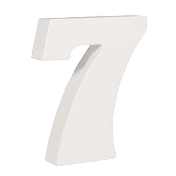Nummer 7 weiß