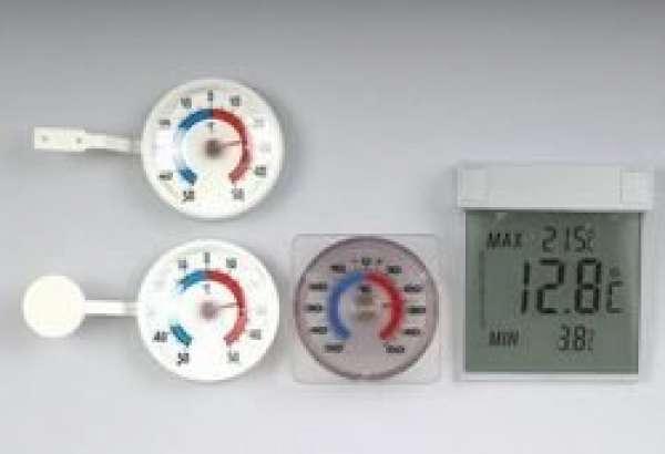 Fenster-Thermometer weiß